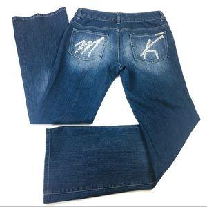 Michael Kors Rhinestone Pocket  Bootcut Jeans
